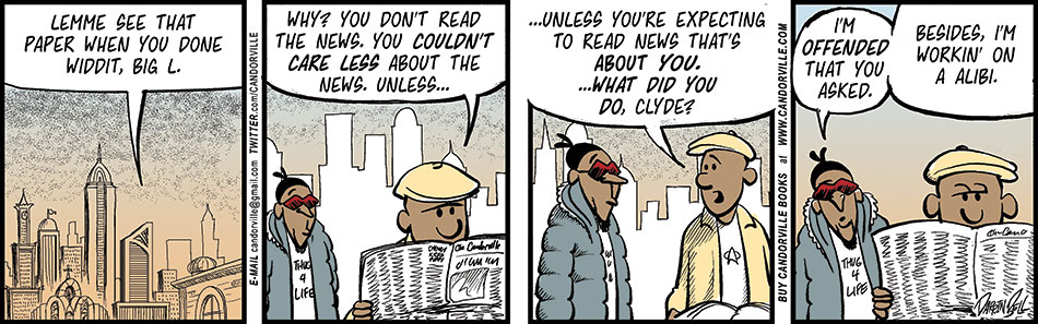 Clyde Actually Wants To Read The Newspaper
